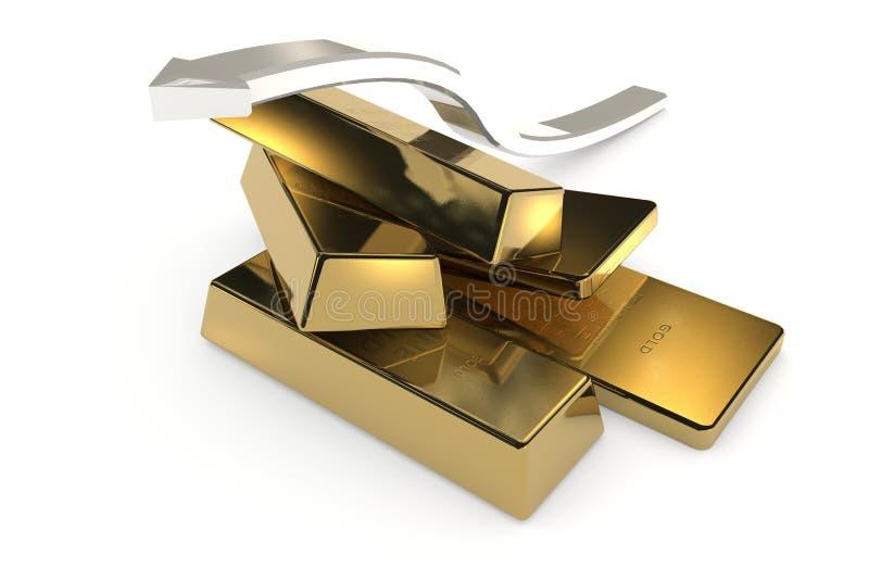 Download 与箭头的金制马上的齿龈3d概念 库存例证. 插画 包括有 亿万富翁, 金块, 市场, 商业, 经济, 封锁 - 62533953