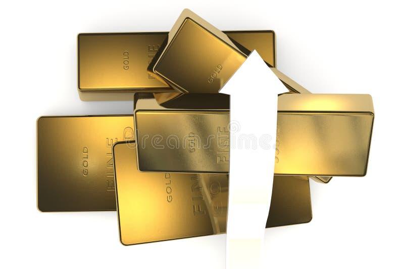 Download 与箭头的金制马上的齿龈3d概念 库存例证. 插画 包括有 金属, 预留, 百万富翁, 金黄, 横幅提供资金的 - 62534218