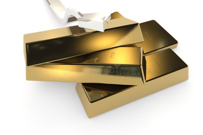 Download 与箭头的金制马上的齿龈3d概念 库存例证. 插画 包括有 财务, 箭头, 替换, 亿万富翁, 反映, 封锁 - 62534377