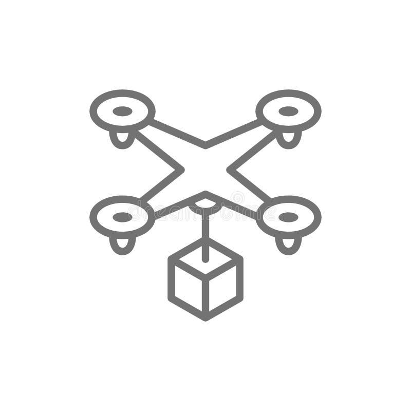 与箱子,快速的送货服务用户线路象的寄生虫 库存例证