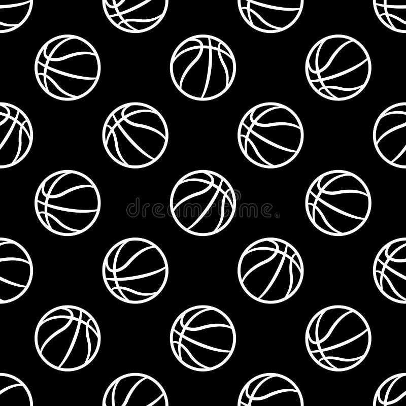 与篮球球的无缝的传染媒介样式 皇族释放例证