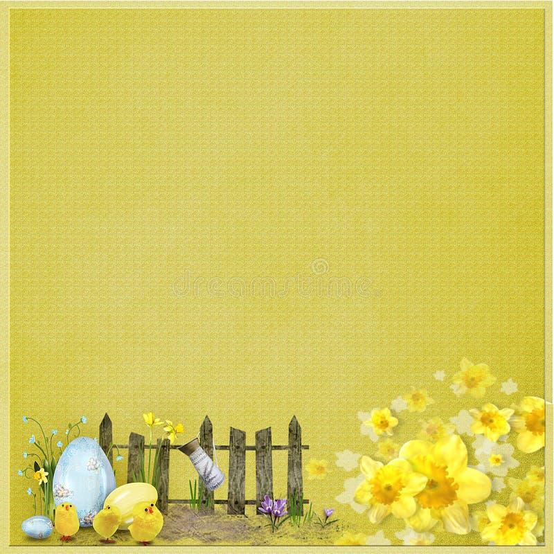 Download 与篱芭、鸡蛋和花的黄色复活节背景 库存例证. 插画 包括有 墙纸, 葡萄酒, 花卉, 织地不很细, 春天 - 72356394