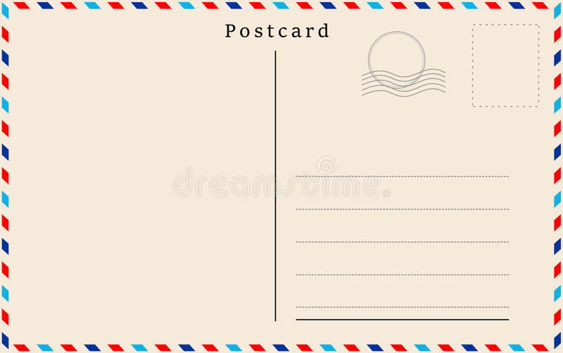 与米黄纸纹理的传染媒介明信片 向量例证