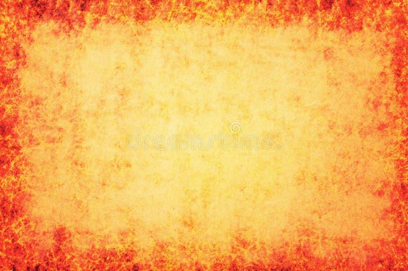 与粗麻布纹理的橙色背景 皇族释放例证