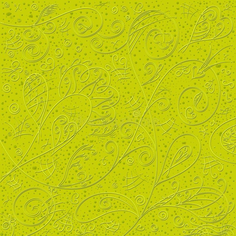 与精妙的华丽容量样式的黄色背景 库存图片