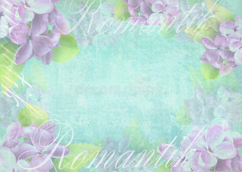 与精美淡紫色花的嫩轻的背景构成 向量例证