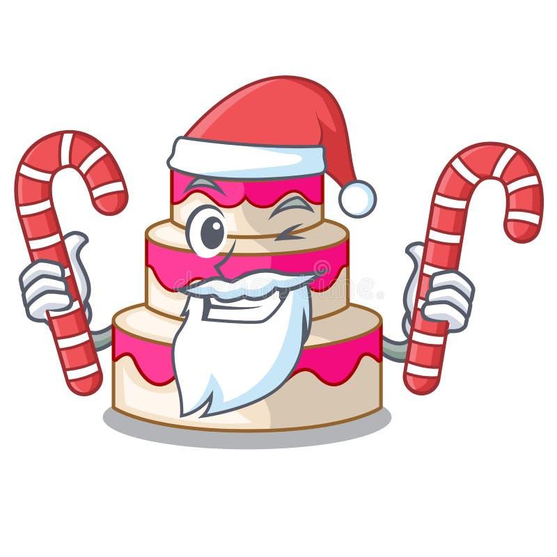 与糖果婚宴喜饼的圣诞老人隔绝与吉祥人 向量例证