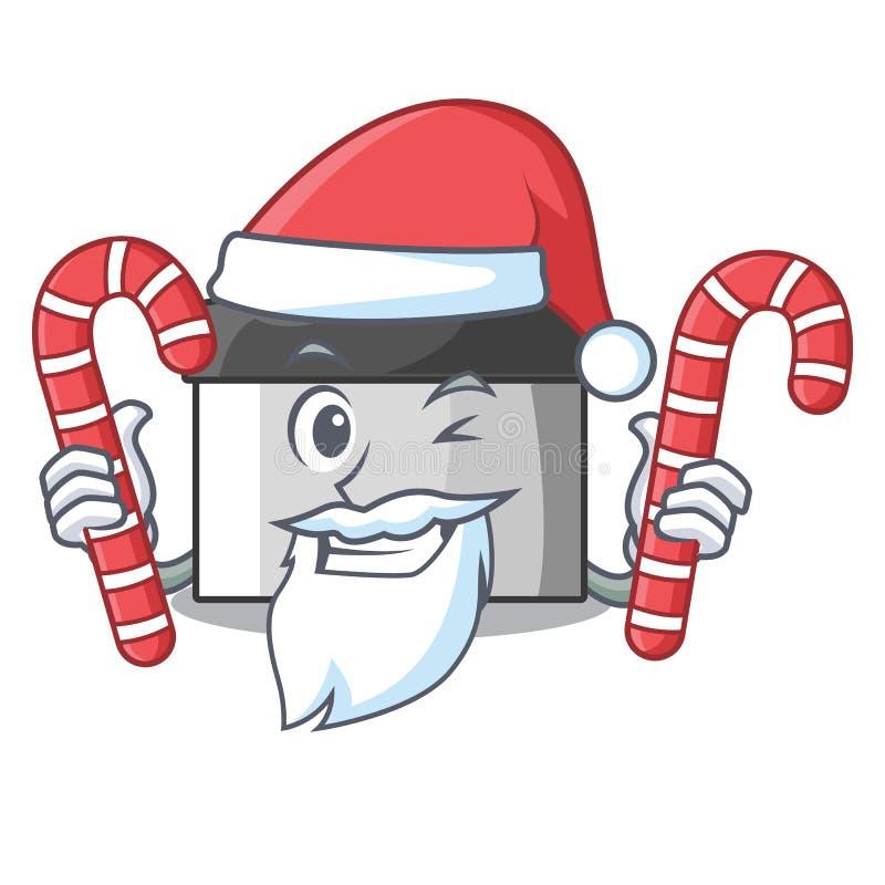 与糖果酥皮点心刮板的圣诞老人在动画片形状 库存例证