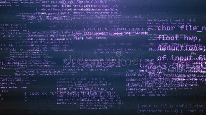 与紫罗兰色消息的编制程序节目 库存例证
