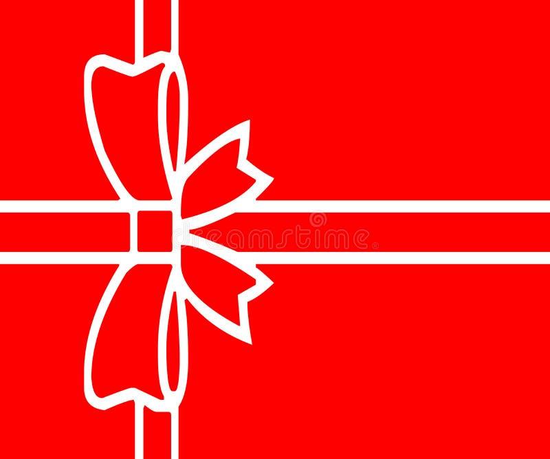 与红色包裹的圣诞礼物 免版税图库摄影