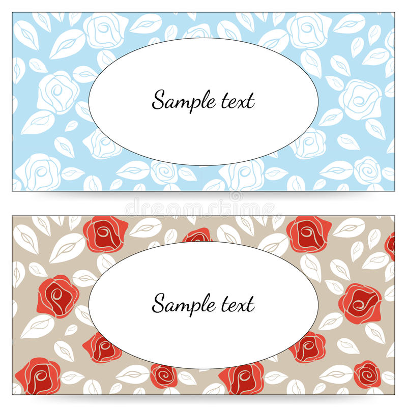 与红色和白玫瑰的婚礼邀请 EPS, JPG 库存例证