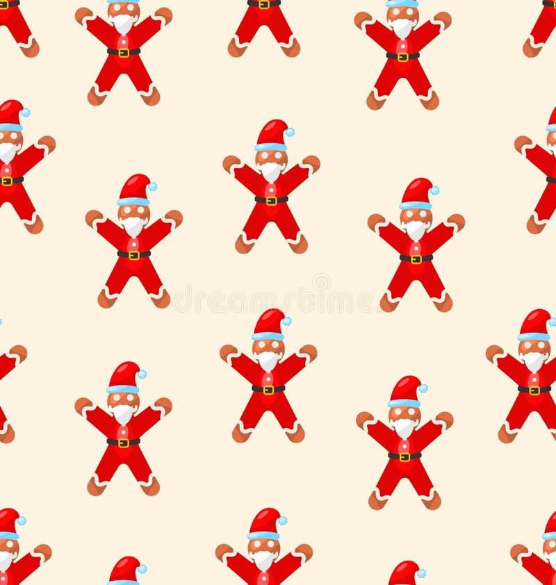 Download 与红色圣诞老人的无缝的圣诞节样式 向量例证. 插画 包括有 装饰, 逗人喜爱, 圣诞节, 例证, 背包, 装饰品 - 62529709