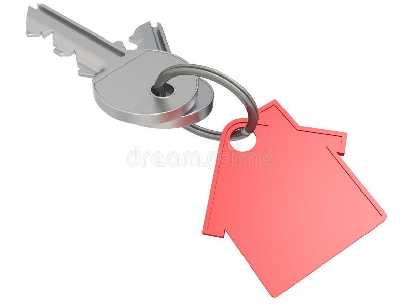 与红色房子象的议院钥匙 库存例证