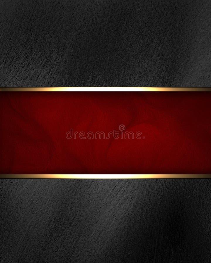 与红色标识牌的黑色背景 免版税库存图片