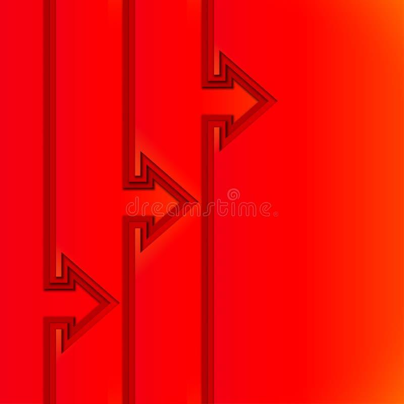 与红色的五颜六色的上升的箭头削减了纸层数 皇族释放例证