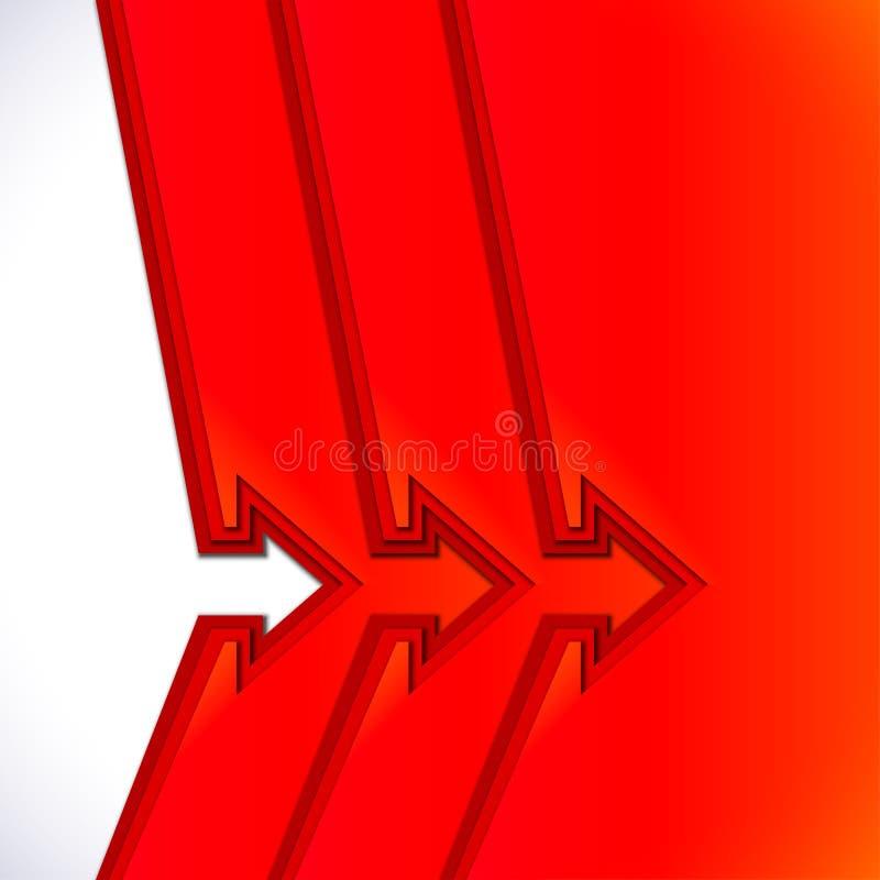 与红色裁减纸层数的五颜六色的箭头 向量例证