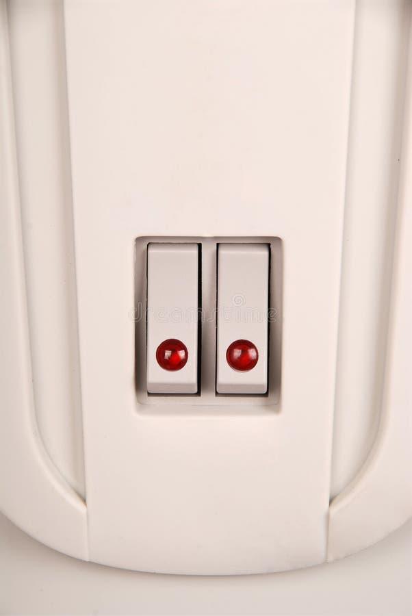 与红色LED的扳纽开关 库存图片