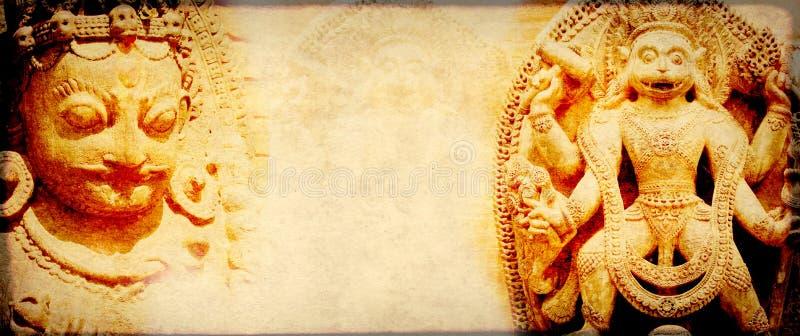 与纸印度的纹理和地标的难看的东西背景 图库摄影