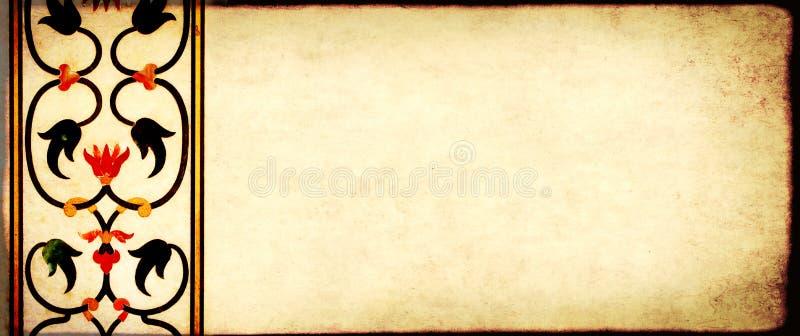 与纸古老马赛克纹理和细节的难看的东西背景  免版税库存图片