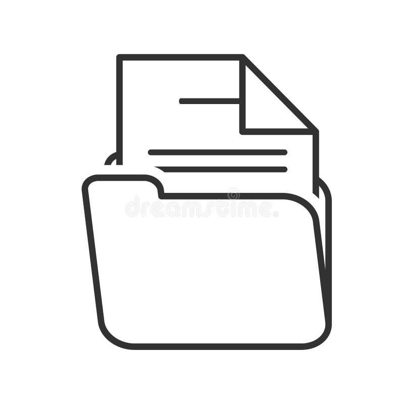 与纸概述平的象的文件夹在白色 皇族释放例证