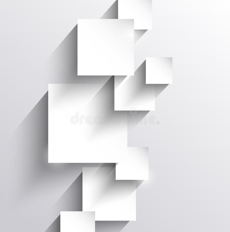 与纸正方形的抽象背景 皇族释放例证
