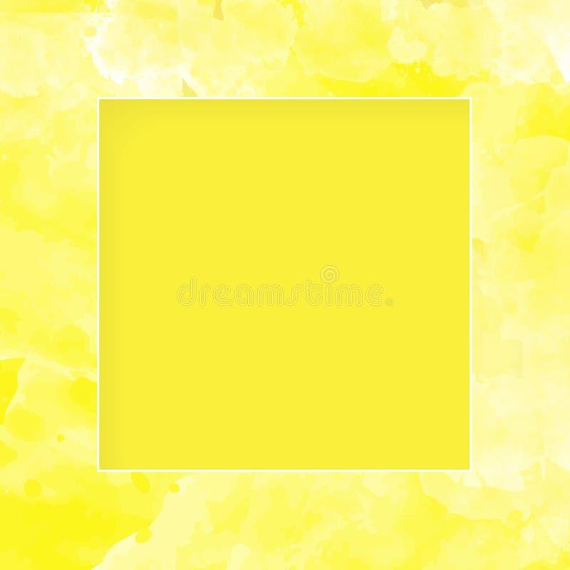 与纸漩涡的抽象方形的框架,导航装饰背景, eps10 皇族释放例证