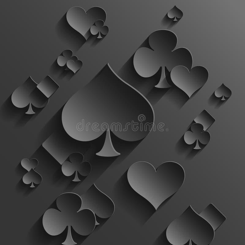 与纸牌元素的抽象背景 库存例证
