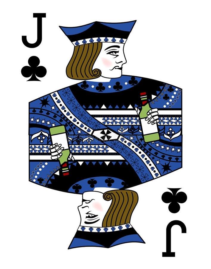 与纸牌的例证-杰克和瓶 向量例证