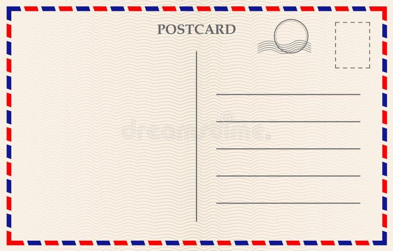 与纸纹理的传染媒介明信片 皇族释放例证