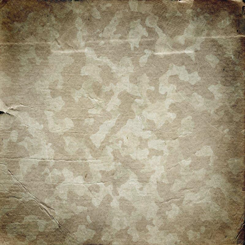 与纸纹理的难看的东西军事背景  库存例证