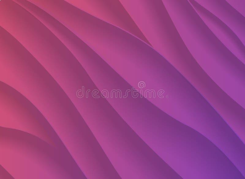 与纸裁减s的五颜六色的日落梯度3d抽象背景 皇族释放例证