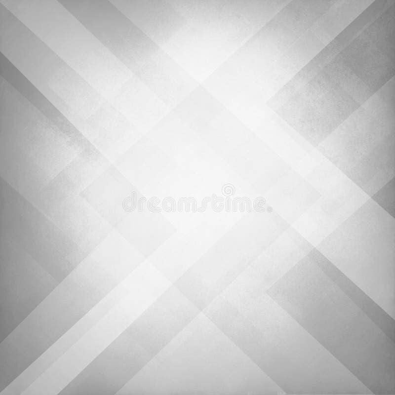 与纹理和块三角和金刚石形状几何样式设计的抽象白色背景  图库摄影