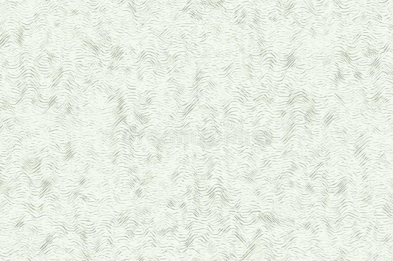 与纹理和绿色的波浪抽象样式背景 库存例证