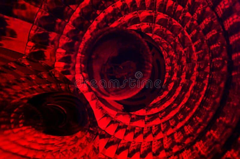 与纹理和透视完整色彩的红色的抽象摄影 库存照片