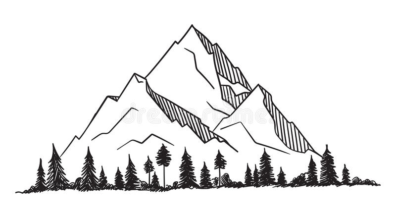 与纹理的传染媒介山 库存例证
