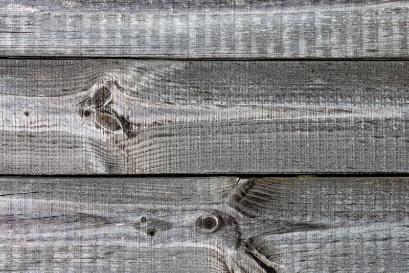与纹理的老灰色木板条 免版税库存照片