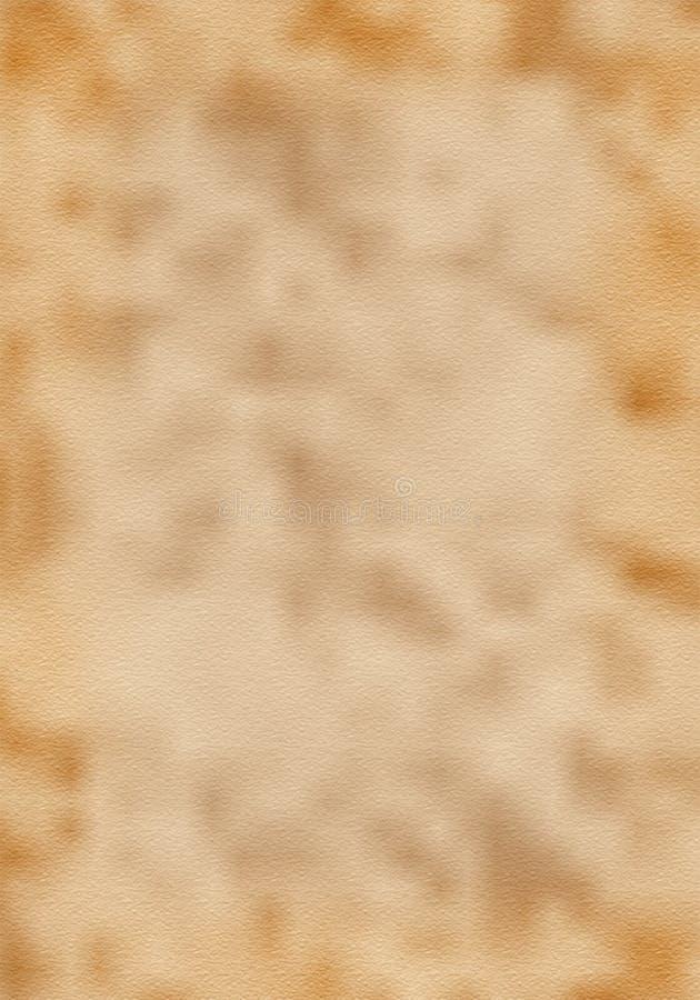 与纹理的老黄色卷曲的纸背景 免版税图库摄影