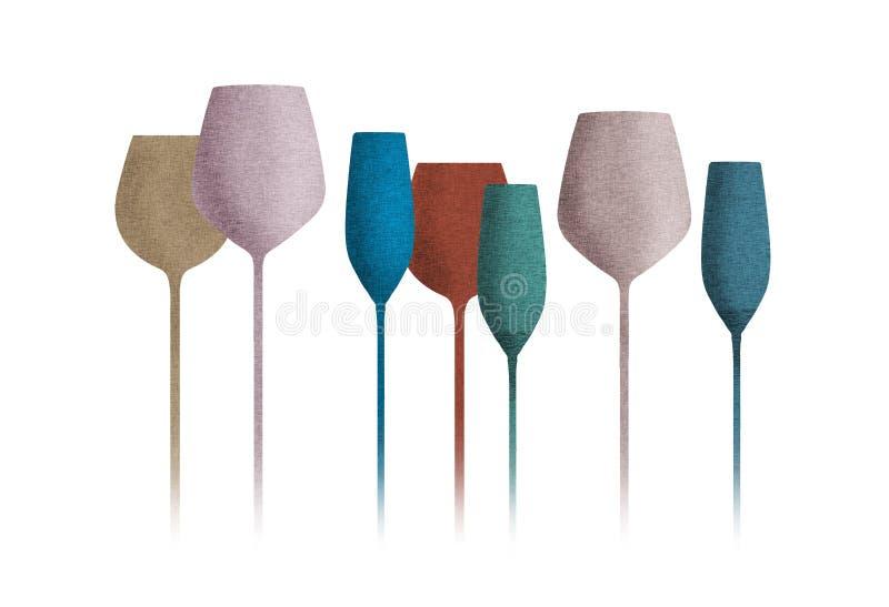 与纹理的长的词根玻璃器皿 库存例证