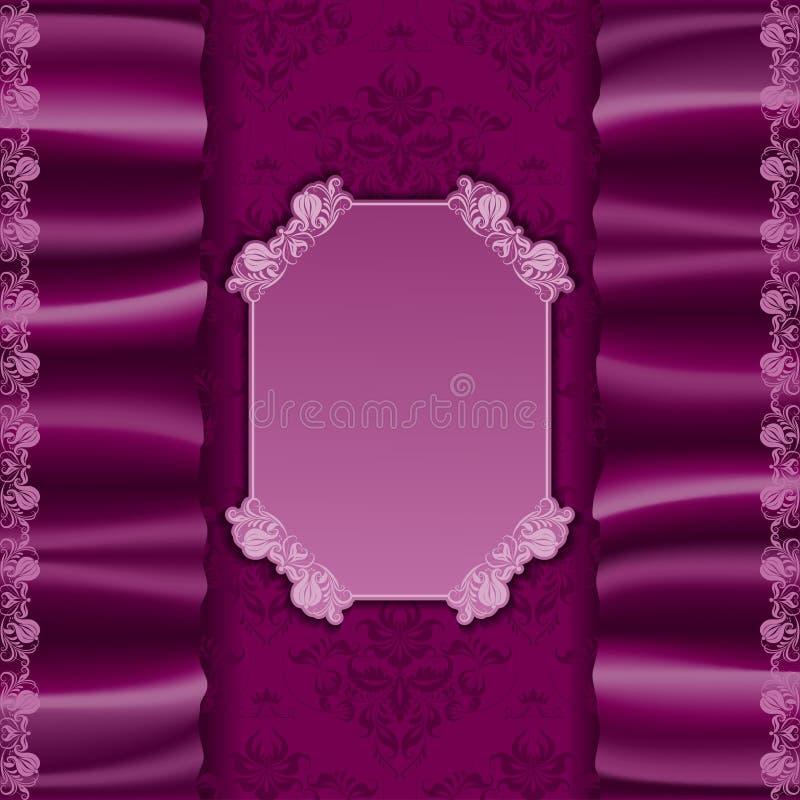 与纺织品的传染媒介典雅的模板邀请 皇族释放例证