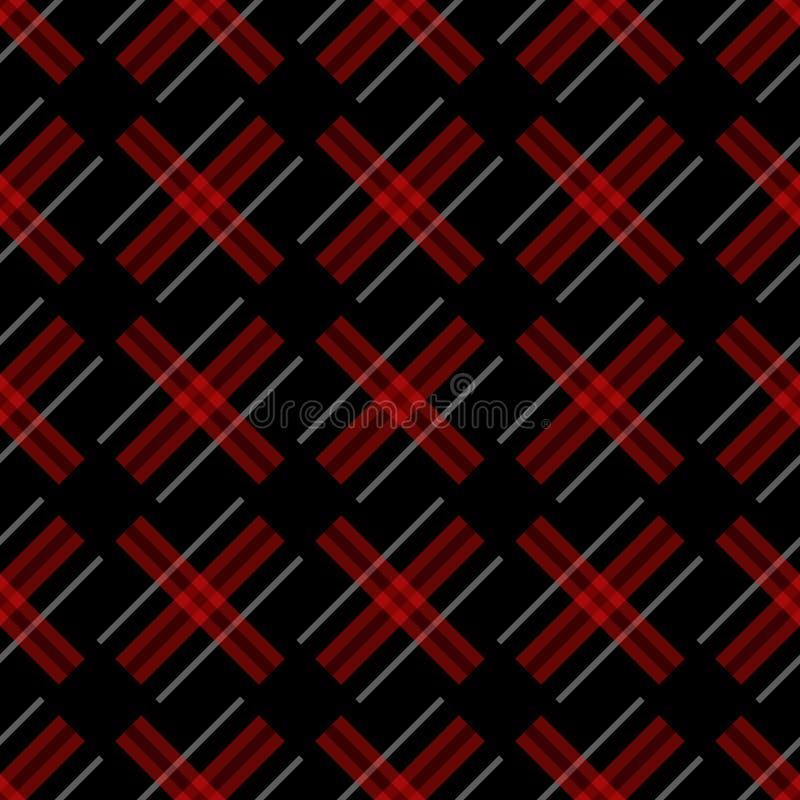 与线作为羊毛凯尔特格子花或被编织的织品纹理的编织的无缝的传染媒介格子花呢披肩样式在无言 皇族释放例证
