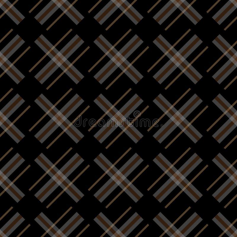 与线作为羊毛凯尔特格子花或被编织的织品纹理的编织的无缝的传染媒介格子花呢披肩样式在无言 向量例证