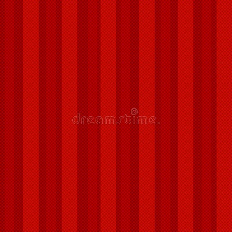 与线映象点的红色无缝的几何样式。加州 库存例证