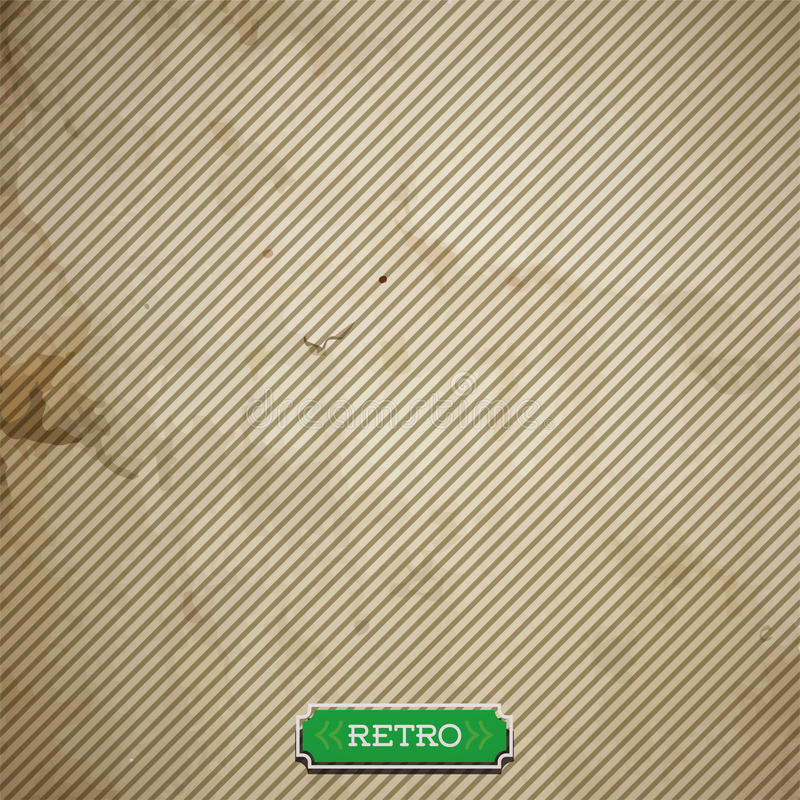 与线的传染媒介老纸板料 向量例证