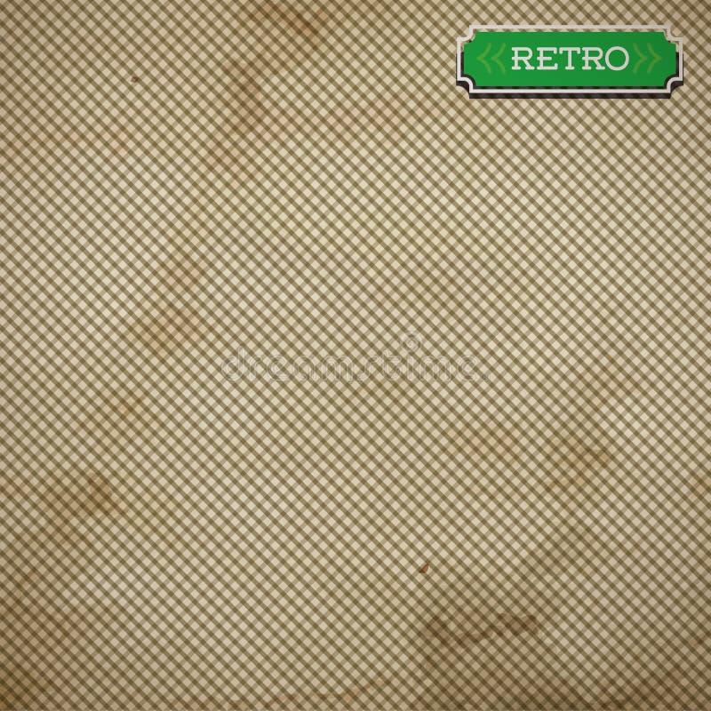与线的传染媒介老纸板料 库存例证