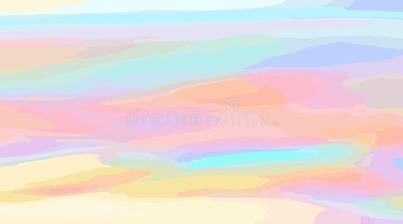 与线的典雅的抽象水平的多彩多姿的背景 库存例证