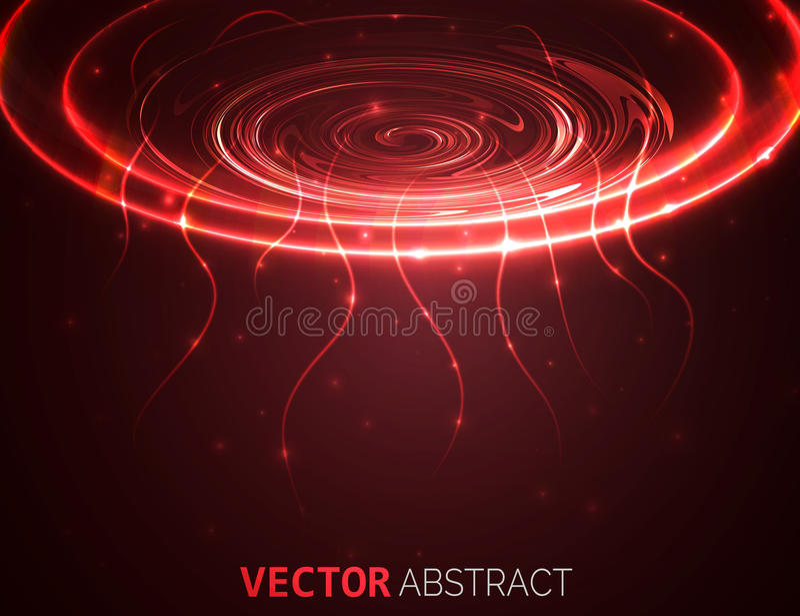 与线的圈子光线影响 抽象背景 向量图形设计 向量例证
