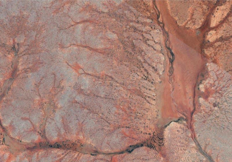 与线的沙漠纹理 库存例证