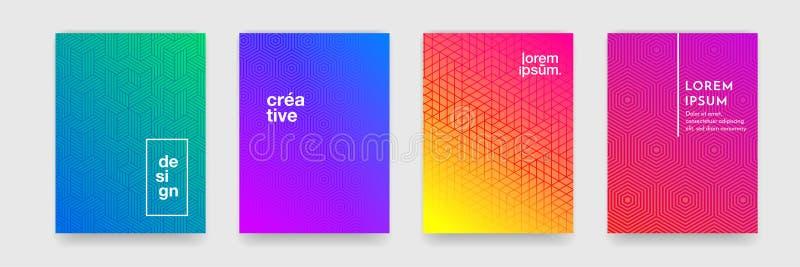 与线纹理的抽象几何样式背景企业小册子盖子设计海报模板的 向量例证