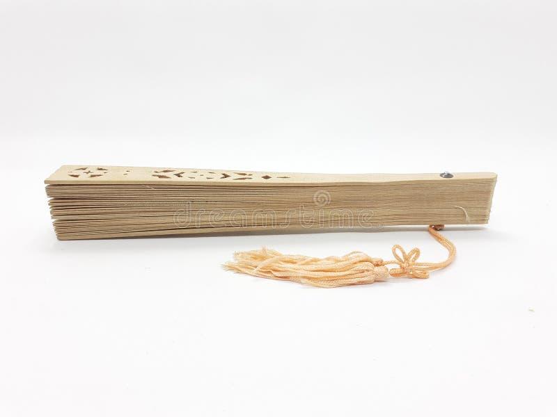与织品袖子09的木竹丝绸折叠的爱好者中国日本葡萄酒减速火箭的样式手工制造丝绸花卉样式手爱好者 免版税库存图片