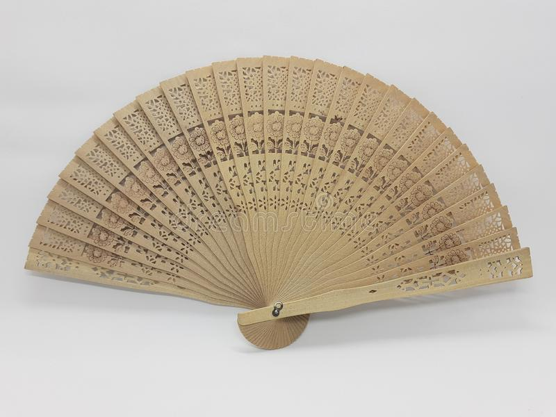与织品袖子16的木竹丝绸折叠的爱好者中国日本葡萄酒减速火箭的样式手工制造丝绸花卉样式手爱好者 免版税图库摄影